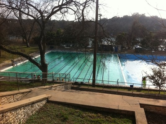 As the oldest public pool in Ausitn, Deep Eddy Pool has many devoted fans. They love their pool so much, they created a mural dedicated to the pool's 100+ years of existence.