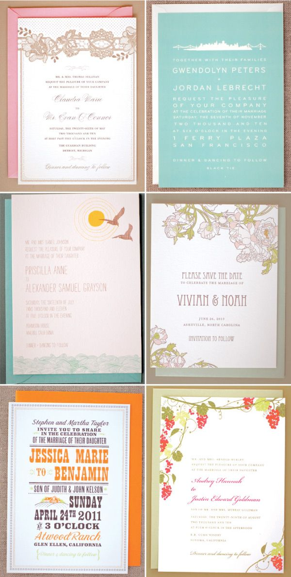 The 94 best Wedding - Invitations images on Pinterest | Invitations ...