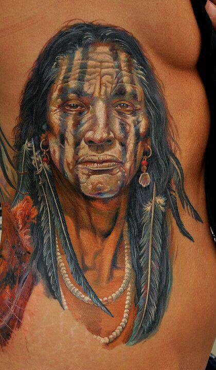 Awesome Native American Indian tattoo