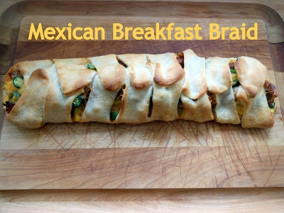 Wake up the family with the smell of #Mexican #Breakfast Braid. Make it the night before and put it in the oven as soon as you wake up. ortega.com #recipe