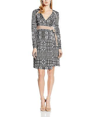 8, Schwarz (Pitch Black 61907), Cream Women's Carola Dress Long Sleeve Dress NEW