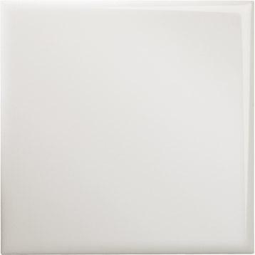 Carrelage mural en faïence , blanc brillant, 10.9x10.9cm   Leroy Merlin