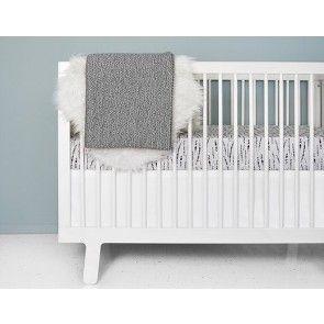 Olli + Lime - Feather Mist Crib Bedding Set