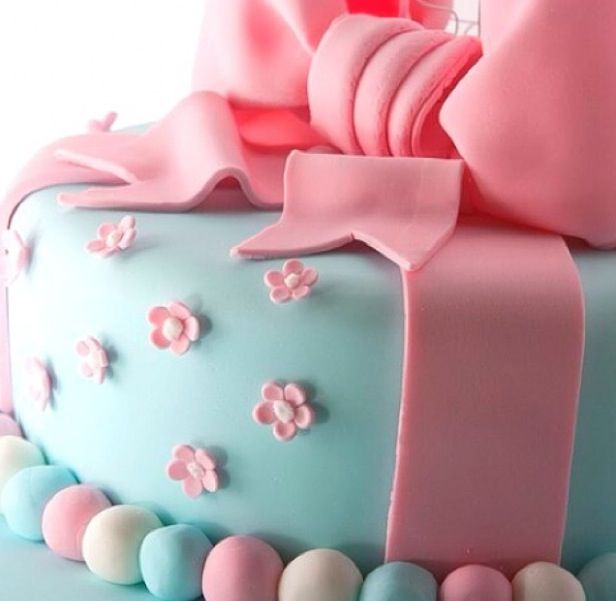 Fruit cake with bow