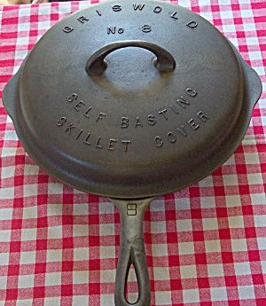 Griswold # 8 Skillet with High Dome Lid