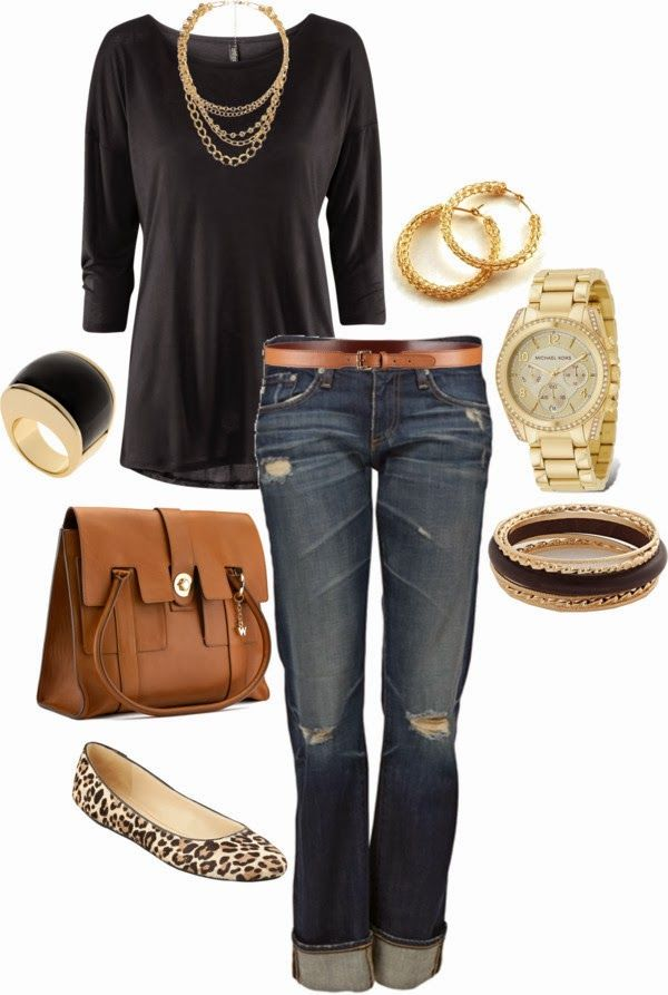 Casual Outfit: Shoes, Casual Style, Fashion, Leopard Flats, Jeans, Fall Outfits, Casual Outfits, Classy Shirts, Leopards Flats