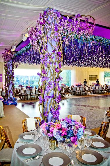 White and lavender color inspiration. Wedding ceremony and reception. This would…                                                                                                                                                                                 More