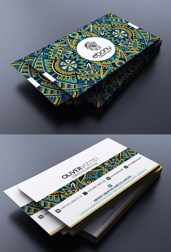 Unique Business Cards: A colorful and eye-catching design to stand out in a wallet.