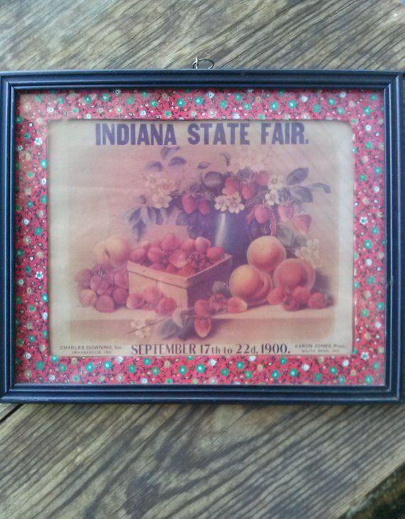 Vintage 1960s Indiana State Fair Print Calendar Art in 2019