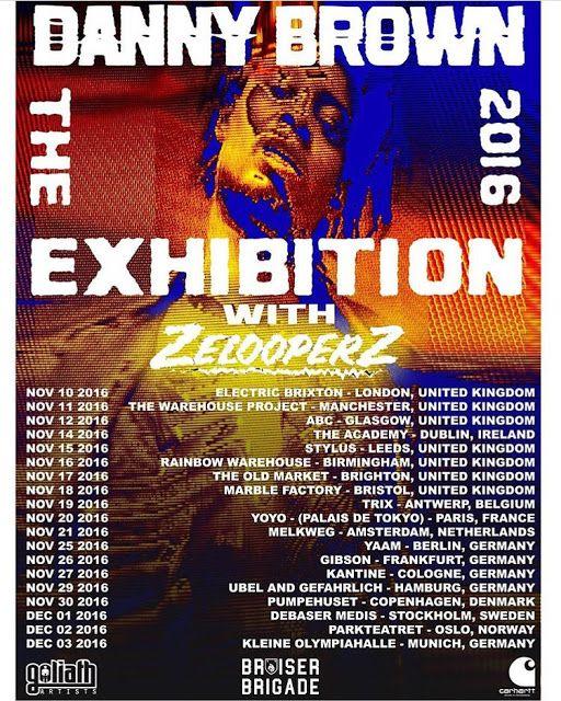 Carhartt WIP presents Danny Brown Europe tour 2016