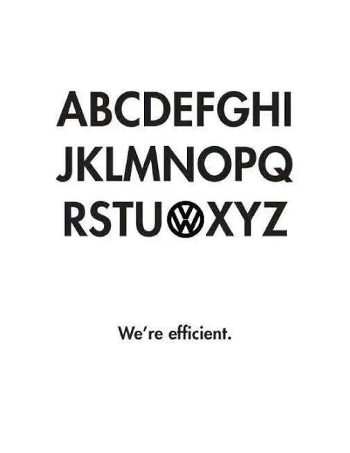 Redefining the alphabet... VW style.