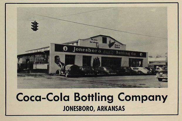 Old Photo Of The Jonesboro Ar Coca Cola Bottling Company
