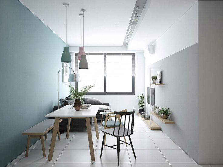 Small modern apartment design with asian and scandinavian influences