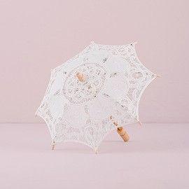 Ombrello merletto d'epoca bianco - Piccolo