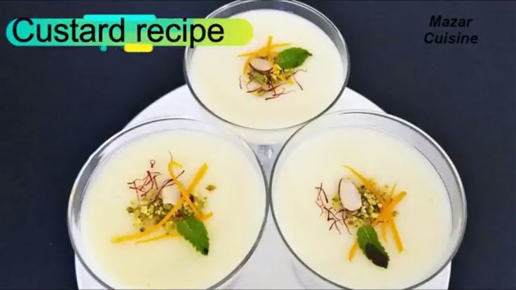 CUSTARD RECIPE, کسترد EASY DESSERT RECIPE AFGHAN FOOD RECIPE
