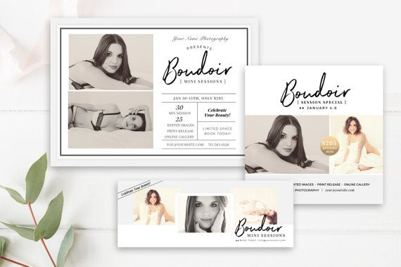 Boudoir Marketing Set - Boudoir Mini Session Marketing Board - Boudoir Photography Board - Instagram Template - INSTANT DOWNLOAD
