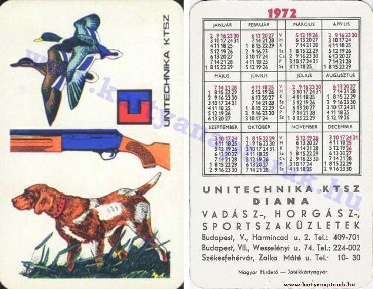 1972 - 1972_0600 - Régi magyar kártyanaptárak