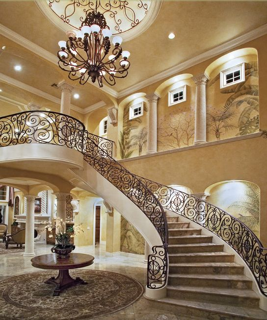 Stunning Staircase And Elevator Design Ideas: Look At Some Grand Foyers From Houzz.com