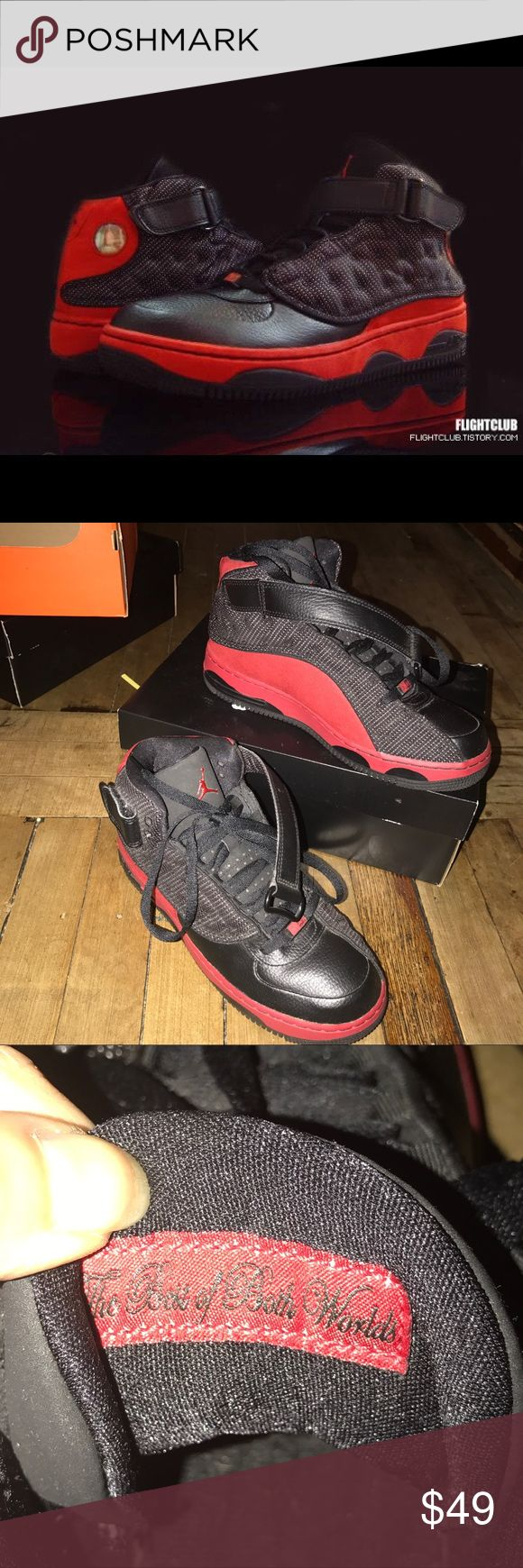6.5y Grade School Nike Air Jordan's 13 Black and red Retro Jordan's 13 with strap attached. Worn a few times along time ago. Still looks new, it does not come with original box. Jordan Shoes Sneakers