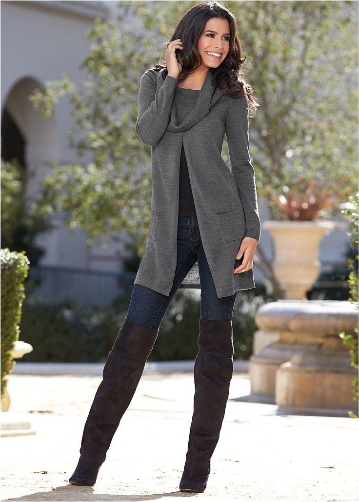 Suéter cinza encomendar agora na loja on-line bonprix.de  R$ 139,00 a partir de Sweater com gola. Use ele em várias ocasiões. Seguir as instruções de ...