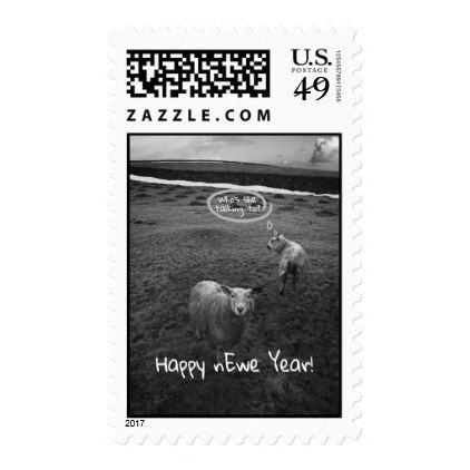 Happy nEwe Year - New Year pun Postage - New Year's Eve happy new year designs party celebration Saint Sylvester's Day