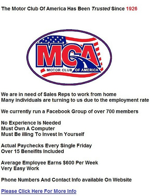 17 best images about mca motor club of america benefits for Mca motor club of america scam
