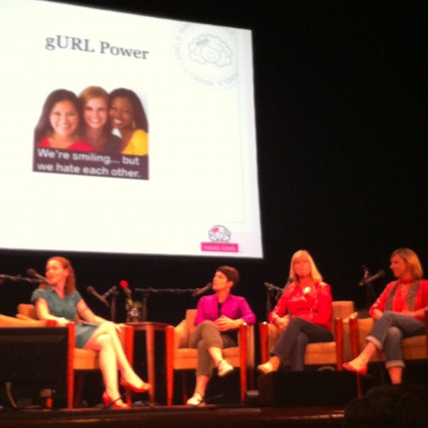 Gurl power panel talks about support and community @alysonschafer @juliecole @kathybuckworth @weewelcome @teresaalbert - @andreacook