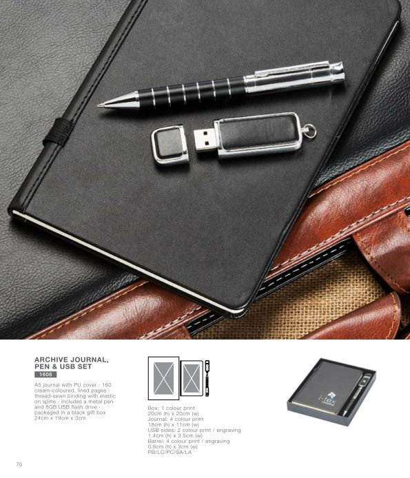 Archive Journal Pen and USB Set