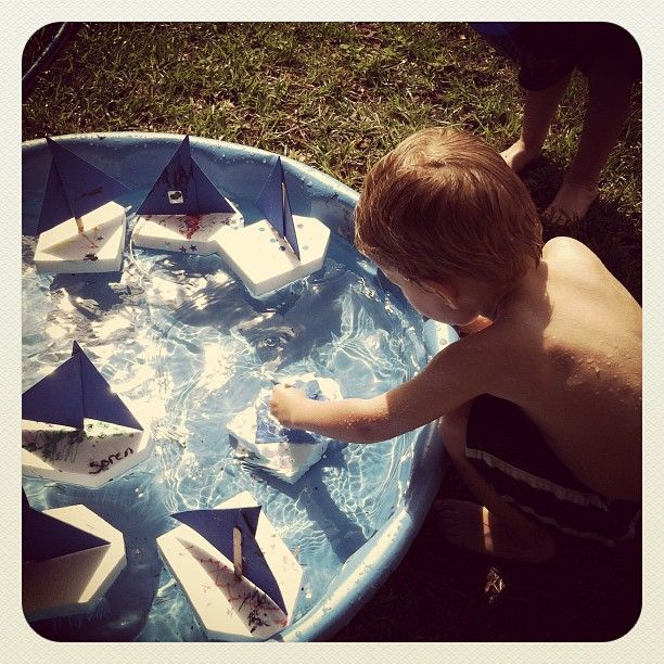 Activity for The Blue Boat - One of the ladies in our co-op had the kids make boats w/styrofoam, popsicle sticks, & foam sails. They loved it! Photo by motherrising • Instagram