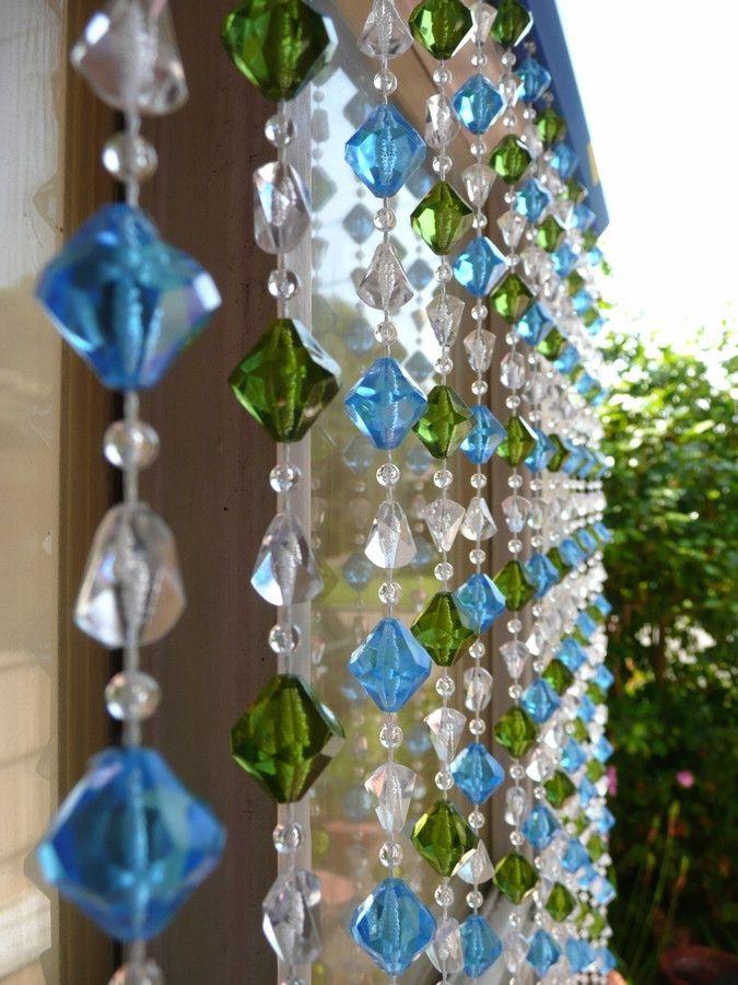 192 best beaded curtains images on pinterest beaded curtains bead blue green gemstone shape beaded curtain teraionfo