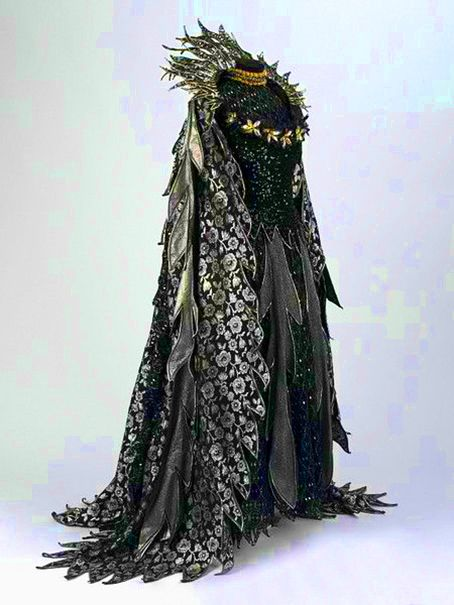 Costume Design...Costume for the Fairy Queen in Gilbert and Sullivan's opera, Iolanthe, D'Oyly Carte Opera Company, 1977, designed by Bruno Santini, Victoria and Albert Museum.