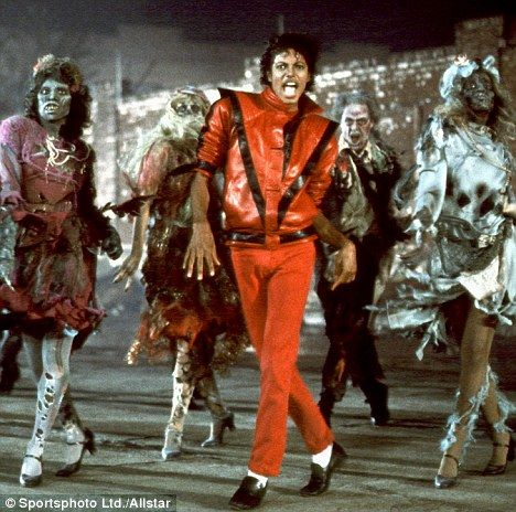 Jackson wore the red leather jacket in the 1982 music video Thriller. Thriller is one of best-selling albums. Michael Jackson's Thriller jacket sells for £1.1million at auction in 2011.