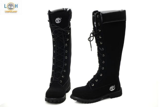 High Black Ladies Timberland Boots