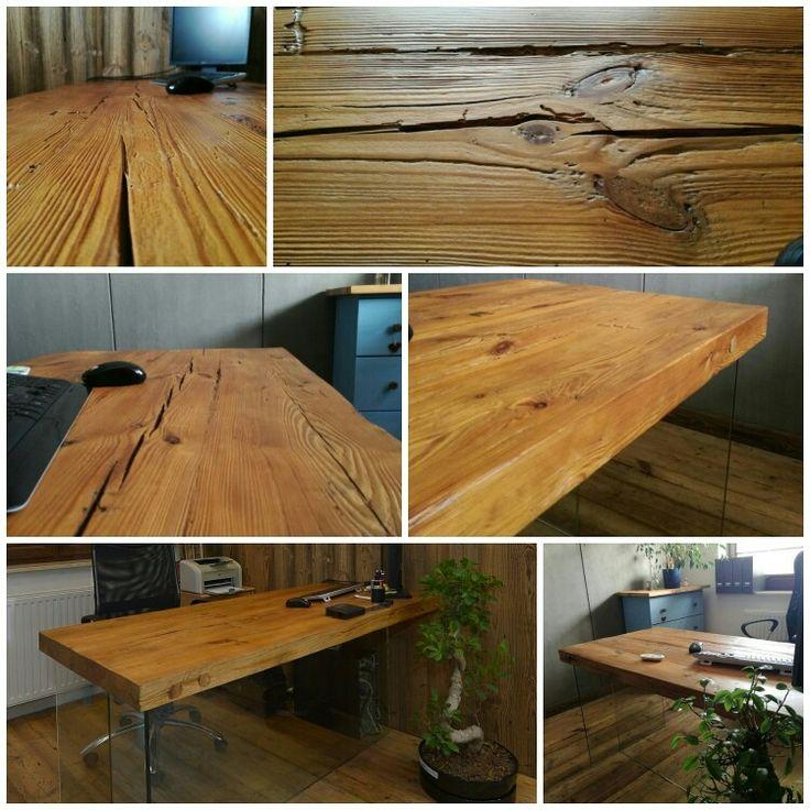 Table vieux bois/ stół z blatem ze starego drewna