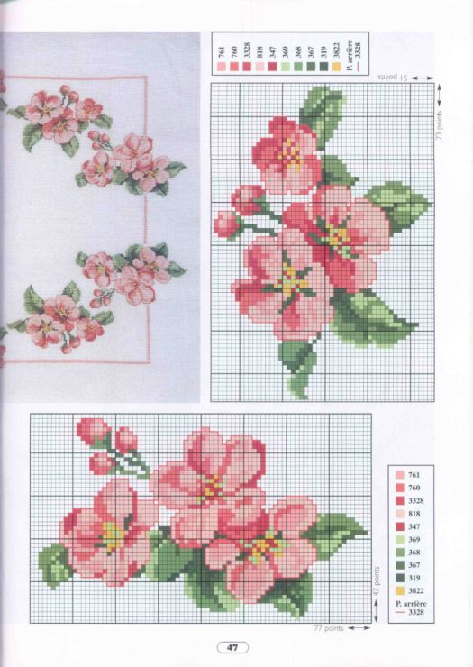 Cross stitch floral