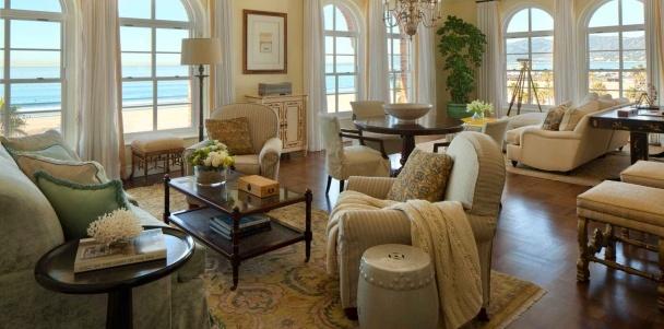 The Presidential Penthouse Living Room at Hotel Casa del Mar, Santa Monica, CA