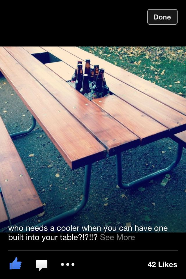 Best 20 picnic table cooler ideas on pinterest outdoor for Table with cooler in middle