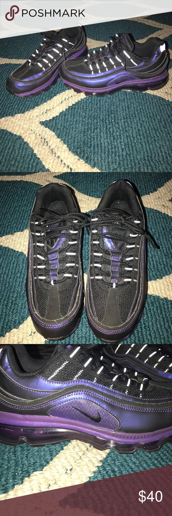 Ladies Nike Air Max Purple and Black with purple air bubble ladies Nike 97 Air Max Nike Shoes Athletic Shoes
