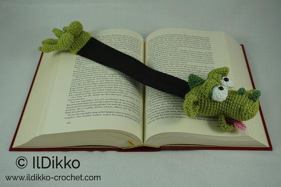 Amigurumi Crochet Pattern Draco the Dragon Bookmark by IlDikko