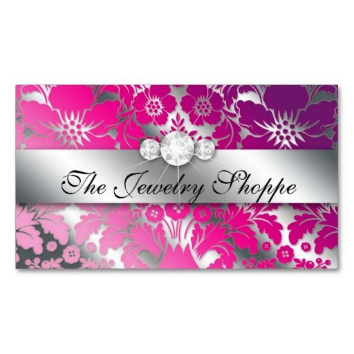55 best makeup business cards images on pinterest makeup business jewelry business card damask floral silver pp accmission Image collections