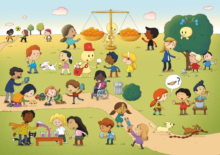 Demokrabaten illustrerer rettferdighet. Tegningen harlisens av typen  CC BY SA NC. Det betyr at du fritt kan bruke tegningene og dele dem videre under samme vilkår, så lenge du ikke bruker tegningene i forretningssammenheng. Bruk dem gjerne i skole og barnehage :)