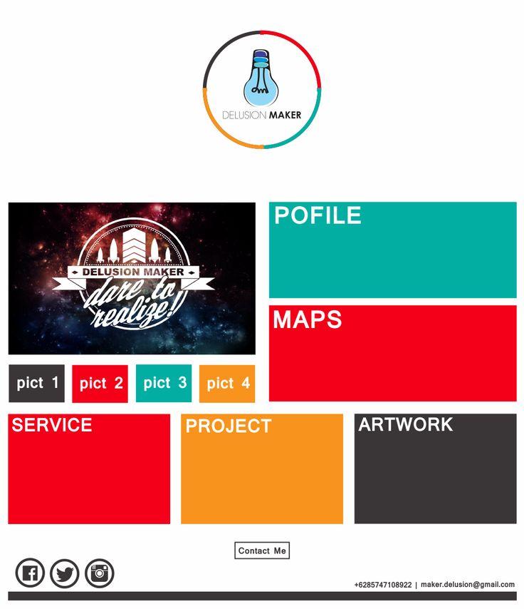 Very simple web company profile #DelusionMaker #DM #Profile #Company
