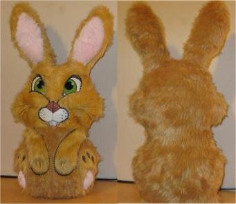 Doorstopper Bunny done with fake fur