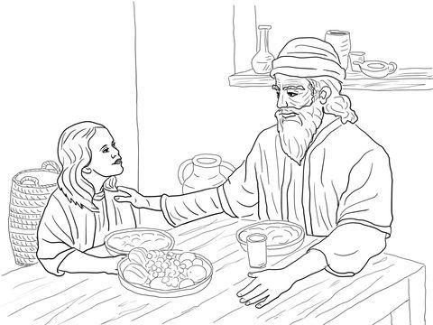 Esther en Mordachai kleurplaat