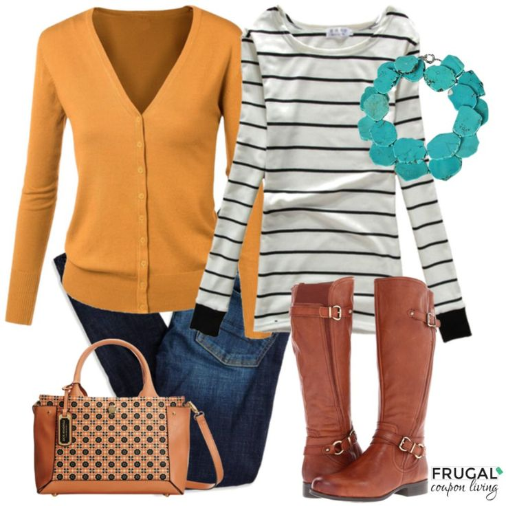 Frugal Fashion Friday Mustard Fall Outfit on Frugal Coupon Living. Fall Fashion. Fall Outfit of the Day. Polyvore Fall Outfits.: