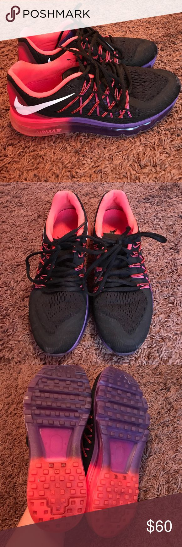 Nike Air Max Nike Air Max in neon pink and purple. Size 6.5 Nike Shoes Sneakers