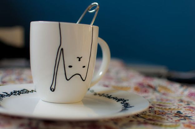 Cat Mug | 33 DIY Gifts You Can Make In Less Than An Hour