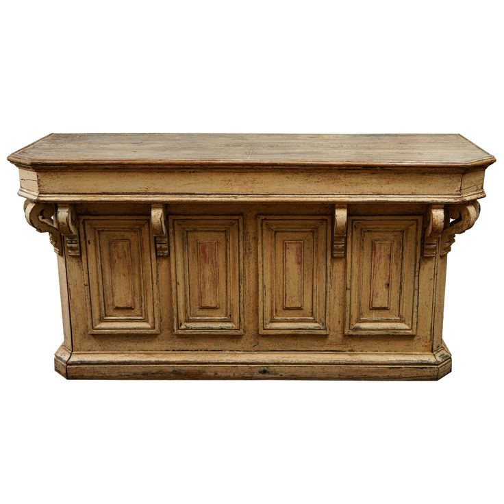 Superb French Store Counter With Corbels