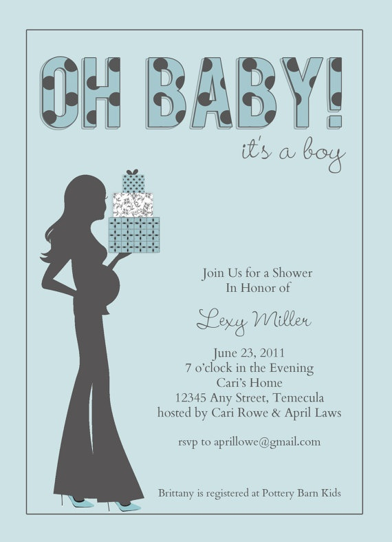 230 best baby invites images on Pinterest Baby showers - baby shower card template