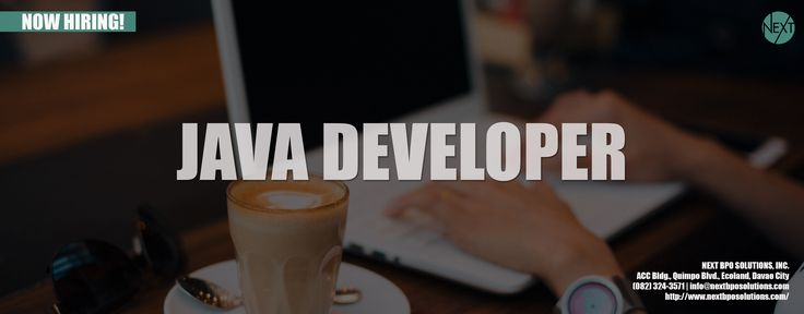 JAVA DEVELOPER | NEXT BPO Solutions | Business Process Outsourcing Philippines | BPO Company Philippines | Outsourcing Philippines | Outsource Staff To Philippines | BPO Philippines #JavaDeveloper #OutsourcingPhilippines #BPOPhilippines #WebsiteDevelopment | Visit our website https://www.nextbposolutions.com/ https://www.nextbposolutions.net/